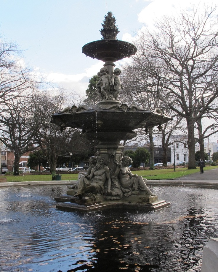 Prince's Square, renamed from St John's Square in 1868 when Prince Alfred planted two commemorative oaks there. Fountain setup 1859. #Launceston #Tasmania