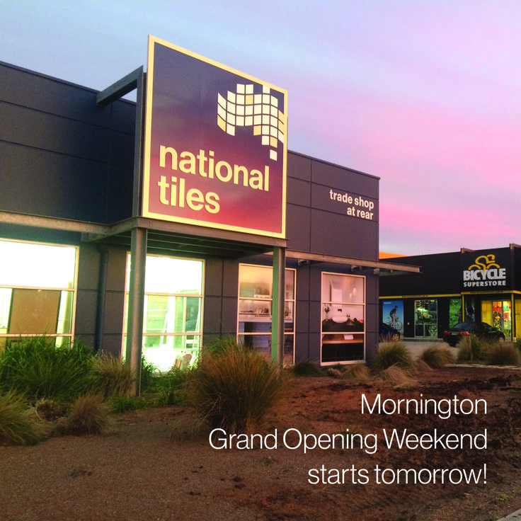 See you tomorrow!  Mornington Grand Opening Weekend.  We have coffee, a kids room, prizes, DIY demonstrations, design advice with Dea Jolly and 25% off store wide (sale on Sunday only). See our instagram post @nationaltilesau for more info.