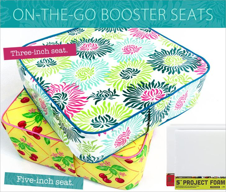 Booster seat tutorial - made from foam & laminated fabric