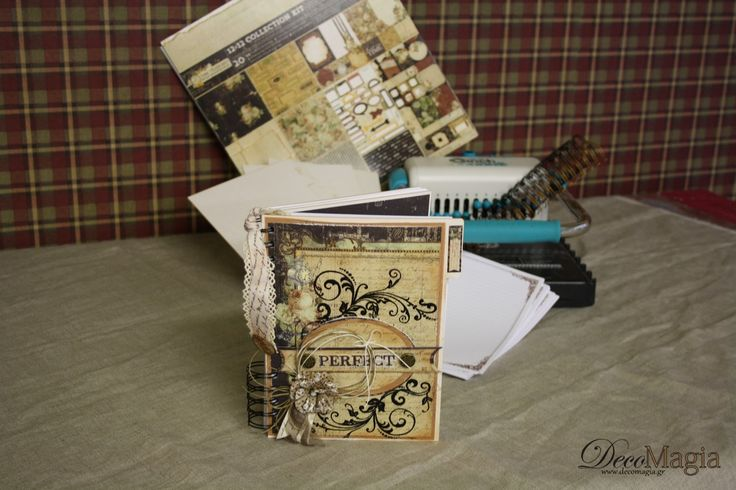 A unique agenda created step by step with KaiserKraft scrabooking papers, Cinch Book Binding Tool and... love!