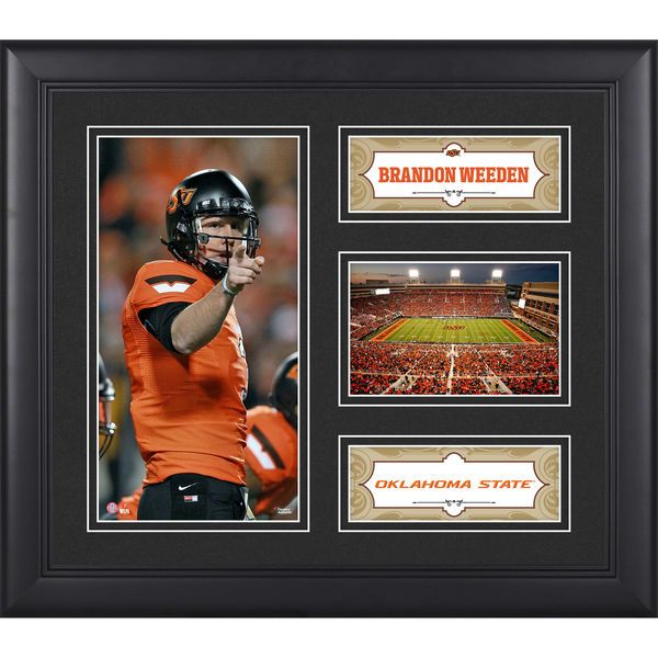 """Brandon Weeden Oklahoma State Cowboys Fanatics Authentic Framed 15"""" x 17"""" Collage - $49.99"""