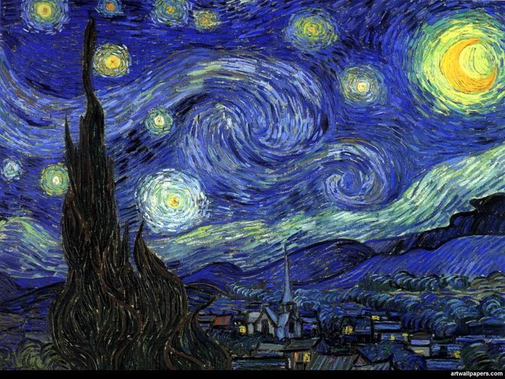 The Starry Night, June 1889, The Museum of Modern Art, New York --- Vincent Van Gogh (March 30, 1853 – July 29, 1890)