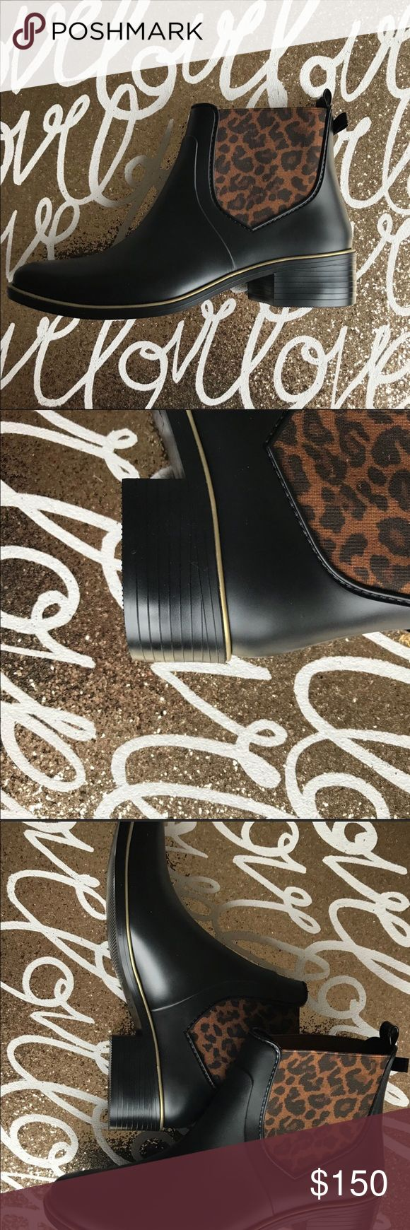"""Kate Spade Sedgewick Leopard Print Rain Boots Brand new...never worn! Cute pull bow tab on back...they're super easy to put on! The inside is cushy...perfect for all day comfort! Rubber sole with 1 3/4"""" heel. IMO these can fit size 9 1/2-11. Offers welcome 😊 kate spade Shoes Winter & Rain Boots"""