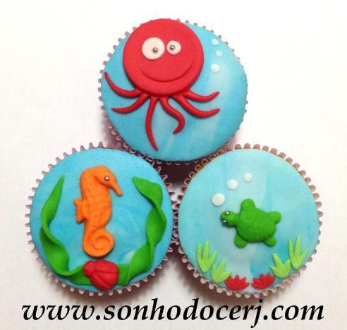 Cupcakes Fundo do mar! curta nossa página no Facebook: www.facebook.com/sonhodocerj