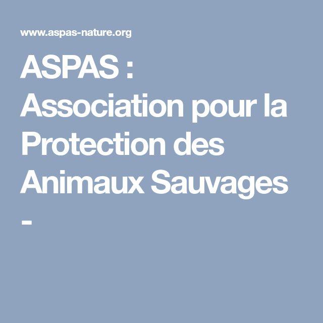 ASPAS : Association pour la Protection des Animaux Sauvages -