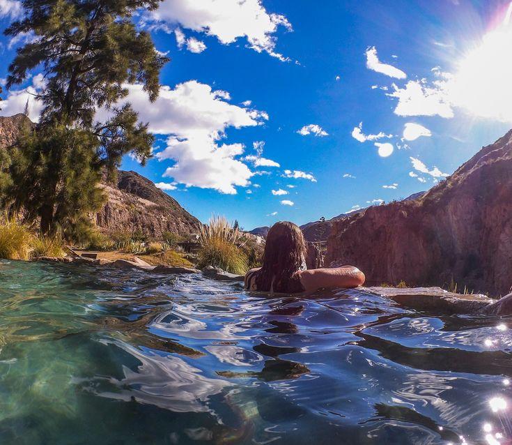 Les sources d'eau chaude de Cacheuta, dans la province de Mendoza en Argentine. Bilan après un an de PVT et de voyages en Argentine