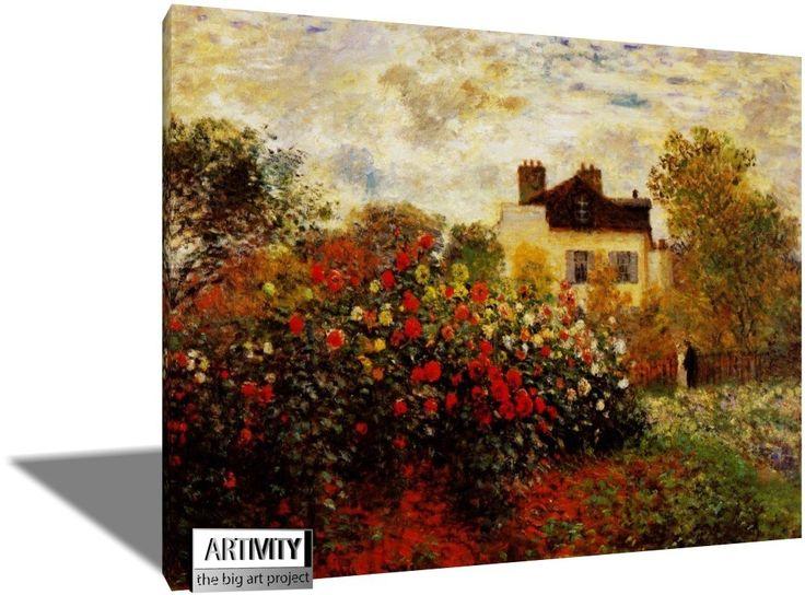Ο Κηπος Του Καλλιτεχνη, Κλωντ Μονέ | Πίνακες ζωγραφικής, καμβάς, λαδοτυπία, αφίσα, κορνίζα