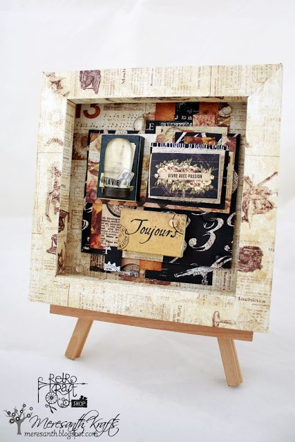 Retro Inspiracje: Interatywny shadowbox / Retro Inspirations: An interactive shadowbox