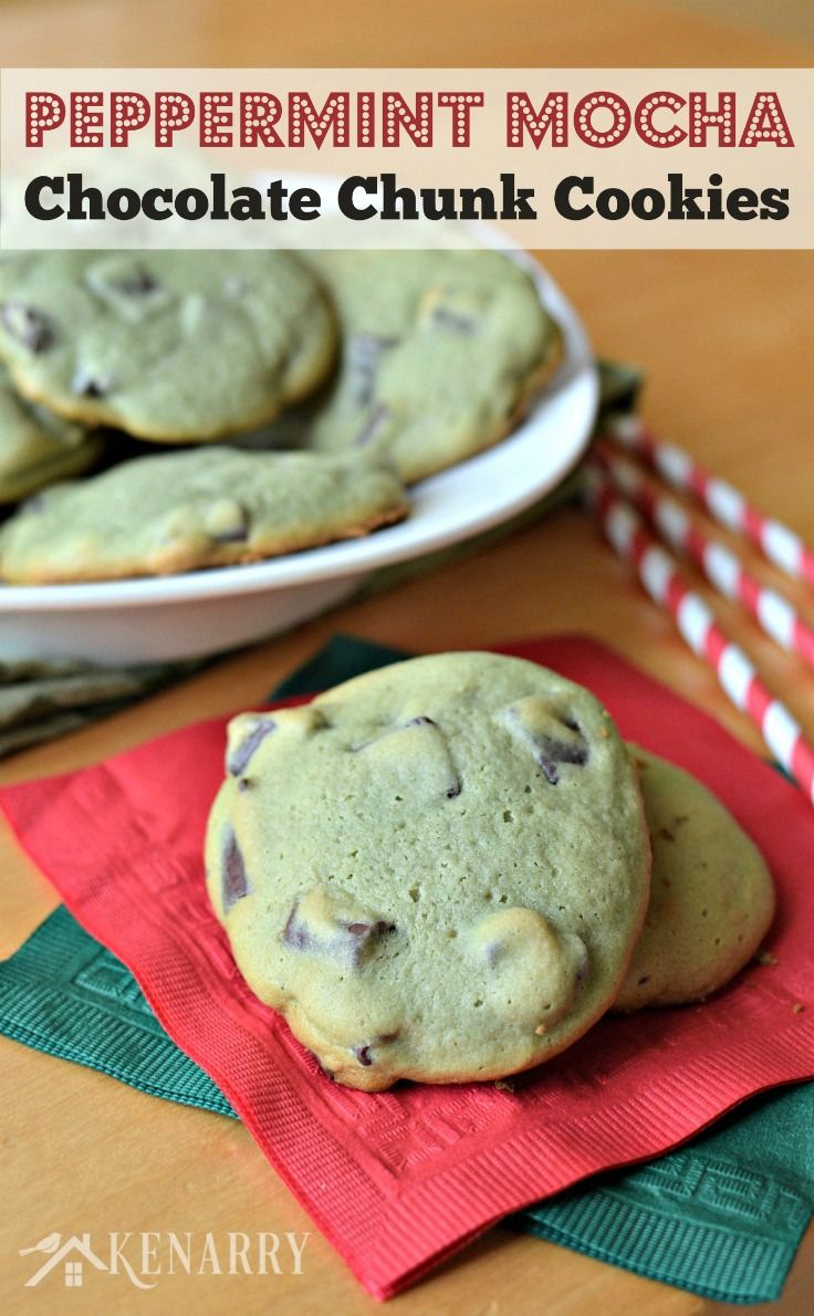 Delicious Peppermint Mocha Chocolate Chunk Cookies - perfect for a ...