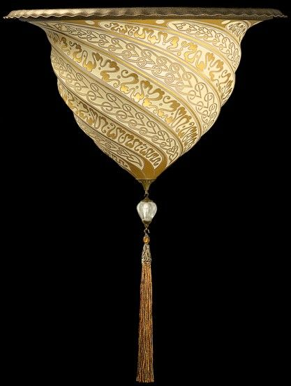 Fortuny hand painted silk chandelier - beautiful | Fortuny ...