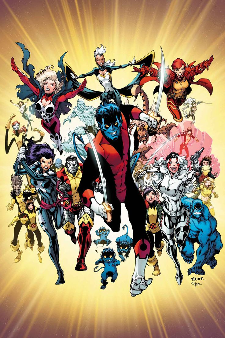 "astonishingx: "" Nightcrawler and the X-Men by Todd Nauck """
