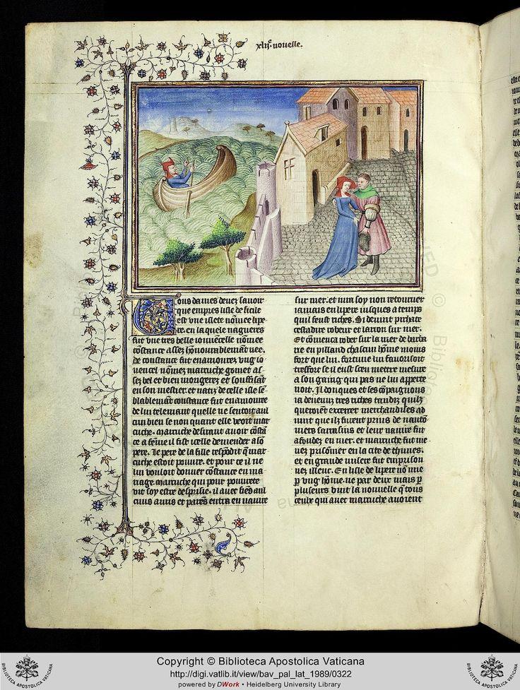 Pal. lat. 1989: Pal. lat. 1989 Boccaccio, Giovanni: Decamerone, französische Übersetzung des Laurent de Premierfait