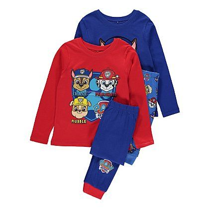 2 Pack Paw Patrol Pyjamas | Kids | George at ASDA