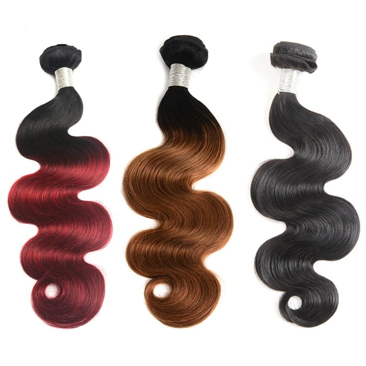 Body Wavy Dyed Weft Hair Extension