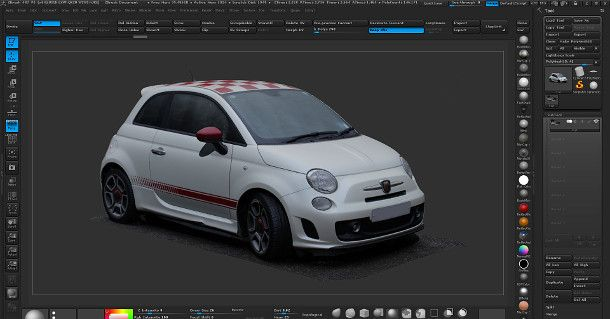 Get this photogrammetry-based scan of a Fiat in OBJ and ZTL format with a 10K texture map.