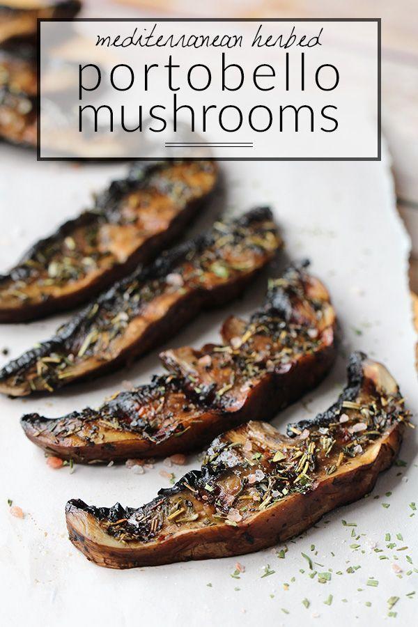 6 ingredient Mediterranean Grilled Portobello Mushrooms - Low Carb, Paleo & Gluten Free | http://Tasteaholics.com