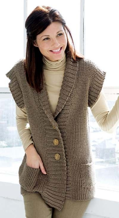 Knitting Pattern For Shawl Collar Vest : 1000+ ideas about Knit Vest Pattern on Pinterest Vest Pattern, Knit Vest an...
