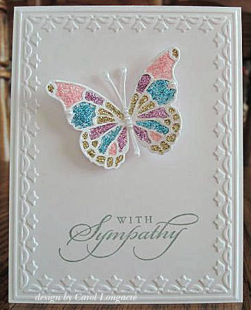 3/13/2013; unknown artist; 'Our Little Inspirations' blog; MB Vivienne and Darla butterflies; sentiment and EF are SU products; good design for a variety of sentiments