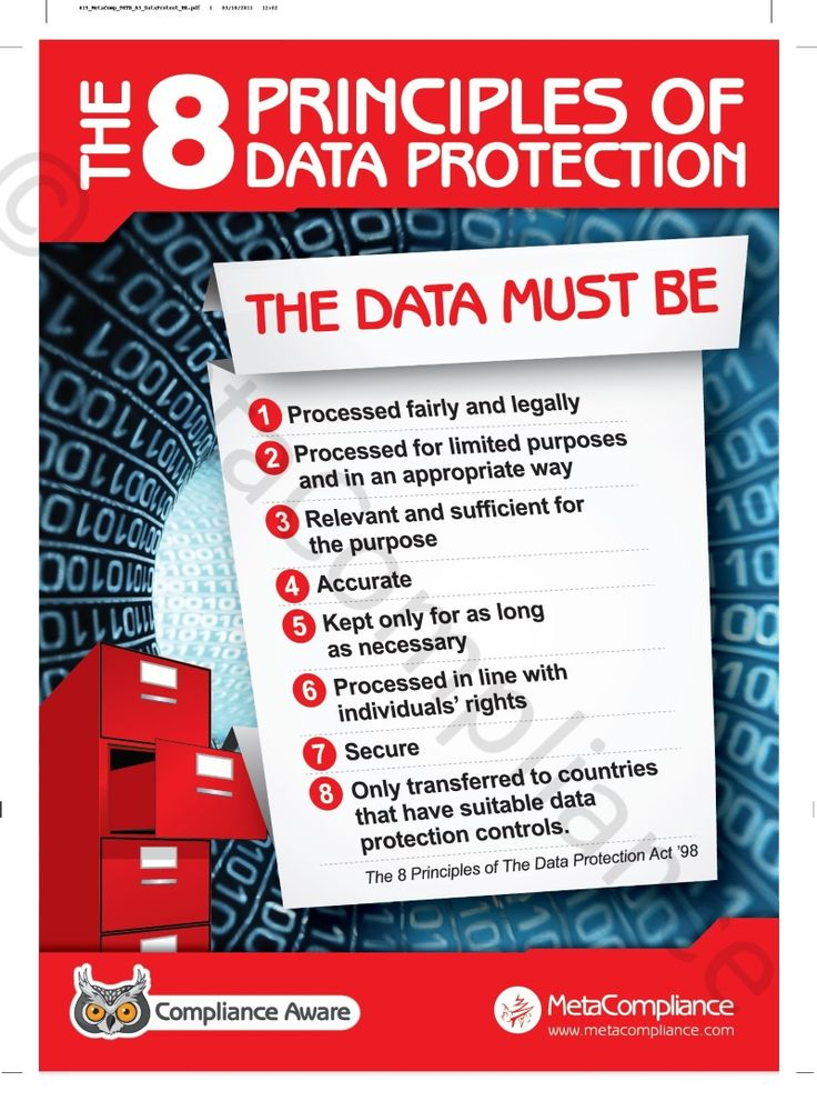 The 8 Principles Of Data Protection Data Protection