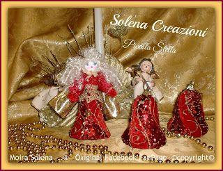 Angioletto PICCOLA STELLA, scintillante realizzato con una decorazione natalizia, scintillante, prezioso e profumatissimo.