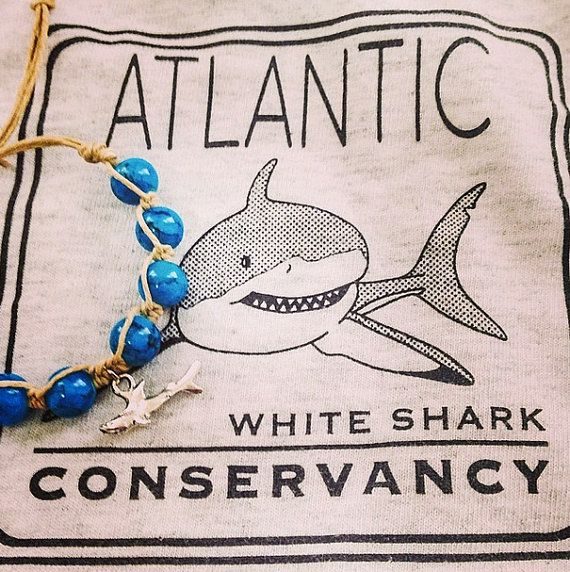 AWSC Shark Bracelet by MOCEANdesigns on Etsy. Support White Shark Research! By buying one of these shark bracelets, you are supporting the amazing research that the scientists on Cape Cod, MA do. Their goal is to support scientific research, educate, and improve public safety. Atlantic White Shark Conservancy is not only helping the communities of Cape Cod, but global coastal communities with the research they are doing. To learn more, please visit http://www.atlanticwhiteshark.org