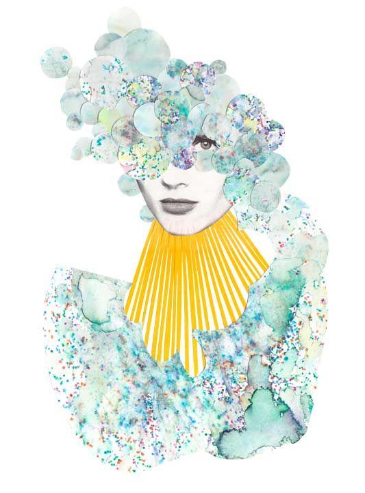 Mixed media illustrations by Niky Roehreke