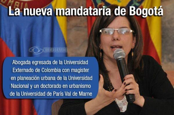 """Esta es María Mercedes Maldonado, la nueva alcaldesa (e) de Bogotá  """"Es una mujer que sin duda alguna puede hacer una labor muy importante al frente de la alcaldía mientras se hacen las elecciones"""", declaró el presidente Santos. http://www.noticiascaracol.com/nacion/articulo-321696-esta-maria-mercedes-maldonado-la-nueva-alcaldesa-e-de-bogota"""
