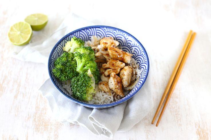 Kip teriyaki met rijst