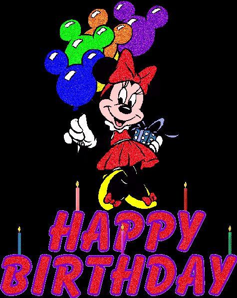 Minnie Mouse con globos: Happy Birthday - ツ Imagenes y Tarjetas para Felicitar en Cumpleaños ツ