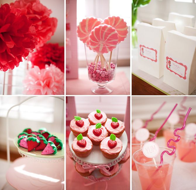 strawberry shortcake birthday party {Cherie was here via Little Sooti}