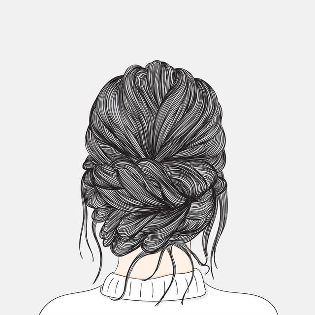 Women Hairstyles Taken From That Back Side After She Is Waiting For The Groom At The Wedding Doodle Art Concept Illustration Painting Art Beautiful Beauty Pn Doodle Art Canvas Art Projects