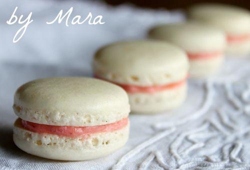 Pink Macarons by Mara