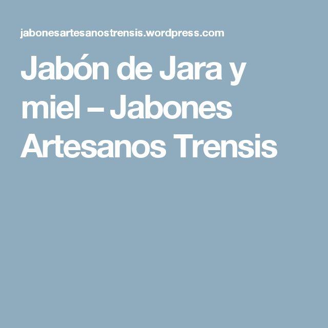 Jabón de Jara y miel – Jabones Artesanos Trensis