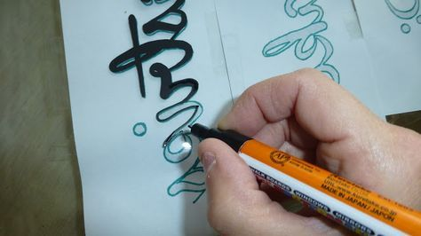 painted style: How to write/paint on glass tutorial...the easy way