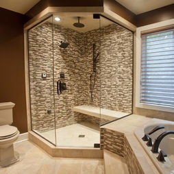 Best Tile Mosaic Images On Pinterest Glass Showers Bathroom