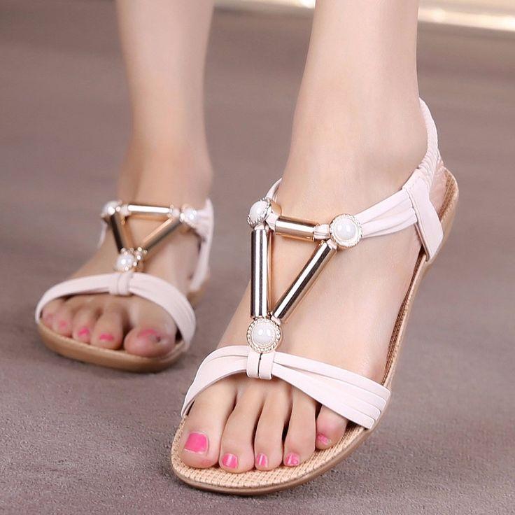 $8.75 (Buy here: https://alitems.com/g/1e8d114494ebda23ff8b16525dc3e8/?i=5&ulp=https%3A%2F%2Fwww.aliexpress.com%2Fitem%2F2016-summer-shoes-flat-sandals-Women-Slipper-Summer-Beaded-Bohemian-Sandals-Beach-Shoes-Flat-Shoes%2F32721256236.html ) 2016 summer shoes flat sandals Women Slipper Summer Beaded Bohemian Sandals Beach Shoes Flat Shoes for just $8.75