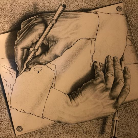 M.C.Escher Drawing Hands 1947