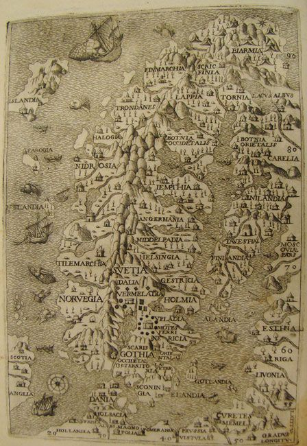 Map of Scandinavia from 1565