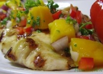 Get a jumpstart on bikini swimsuit weather with this delicious and healthy Tropical Spa Mango Chicken