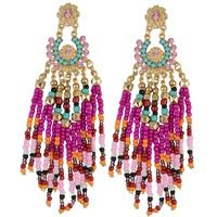 3 farben Boho ethnische mode gold ohrring harz perlen quaste luxus charme strass…