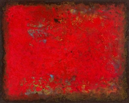 DWilf - red abstract oil painting by Sam Roloff Portland Oregon 2013 id# 3266
