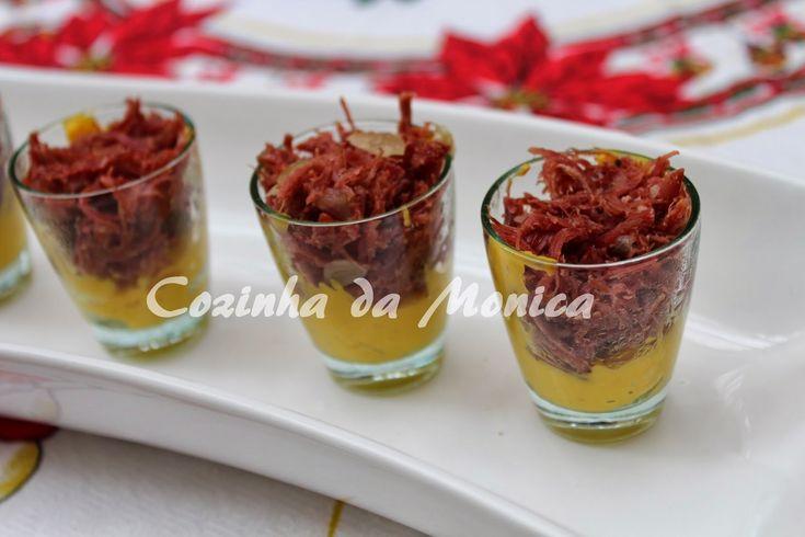 COZINHA DA MONICA: Verrine de abóbora e carne seca