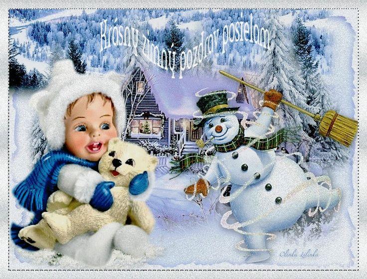 Krásny zimný pozdrav posielam