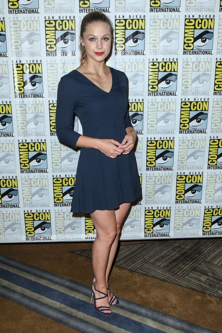 Melissa Benoist At Supergirl Press Line At Comic-Con