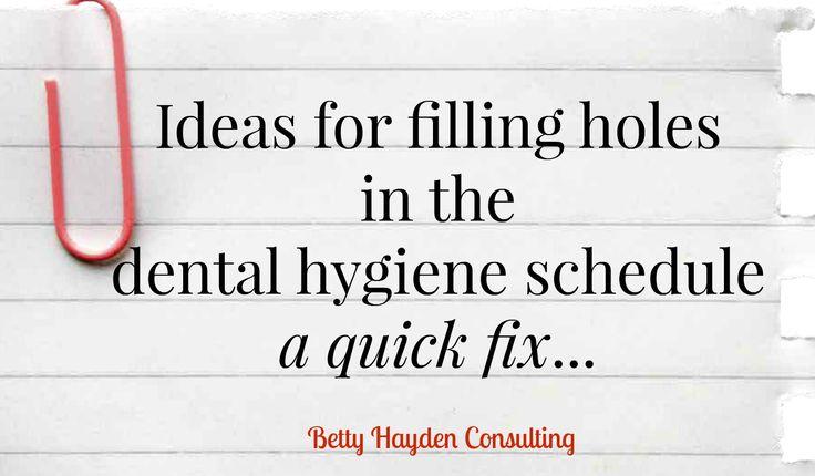 Dental Marketing and Dental Practice Management -scheduling tips to fill hygiene schedule - summer dental marketing