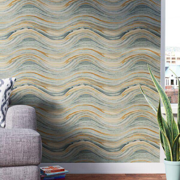 Garney Aquamarine 33 L X 20 5 W Peel And Stick Wallpaper Roll Wallpaper Roll Peel And Stick Wallpaper Brick Wallpaper Roll