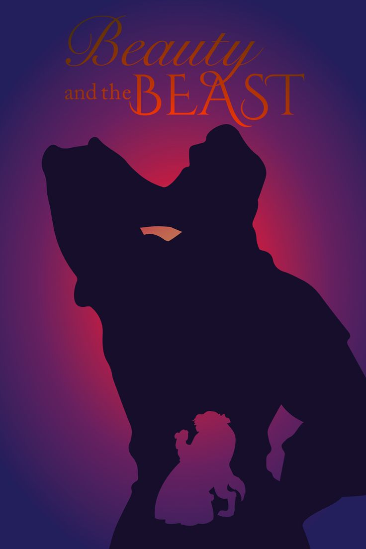 beauty and the beast 1991 minimal movie poster by