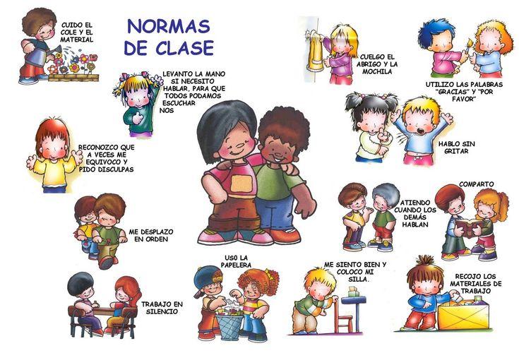 espanol | También nuevos dibujos de reglas de conducta en clase en español e ...