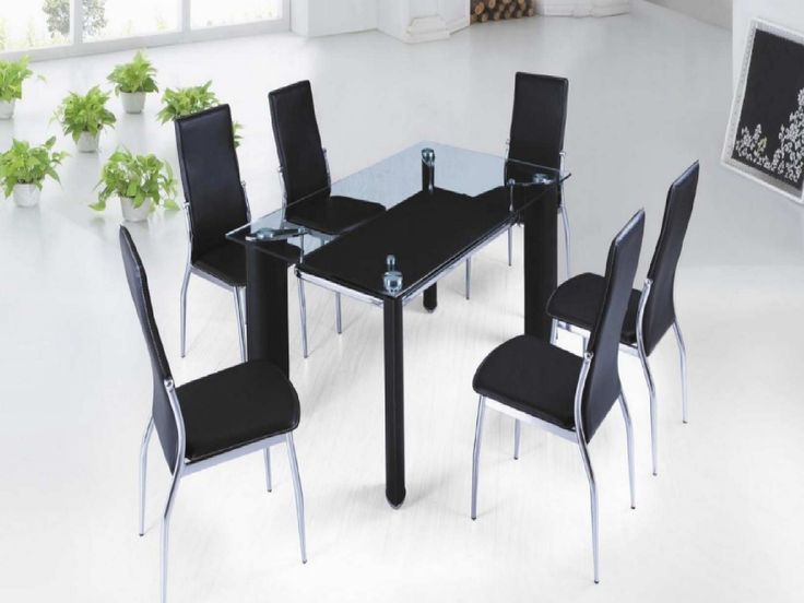 17 Best ideas about Black Glass Dining Table on Pinterest Table