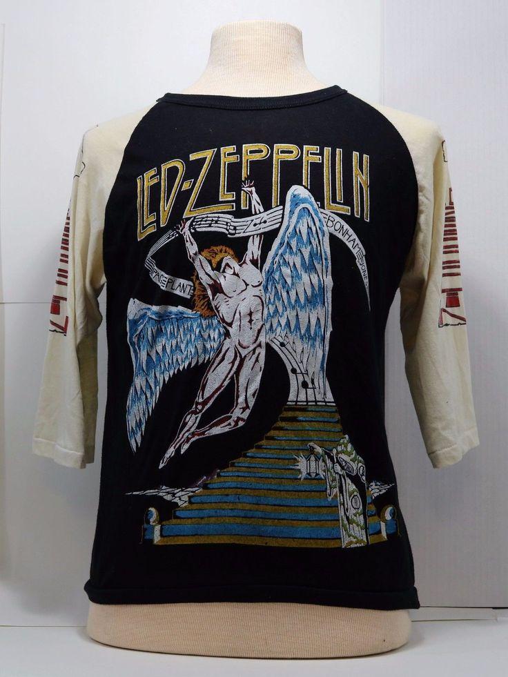 Vintage 1970's LED ZEPPELIN Tour concert T-Shirt | Entertainment Memorabilia, Music Memorabilia, Rock & Pop | eBay!